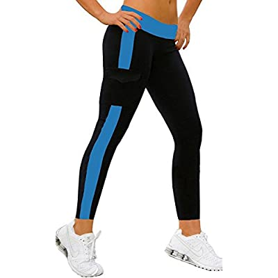 Vogholic Women's Fashion Slim Fit Jogging Leggings Yoga Pants with Side Pockets