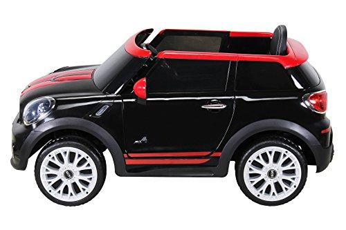 RC Auto kaufen Kinderauto Bild 3: Actionbikes Motors Kinder Elektro Auto Mini Cooper Paceman John Cooper Works Kinderauto Elektroauto Lizenziert 2 x 45 Watt Motor (Schwarz)*