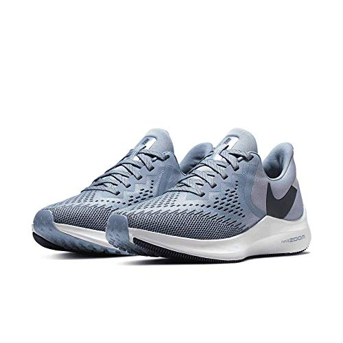 Nike Women's Air Zoom Winflo 6 Running Shoes (10, Indigo/Blue-Platinum)