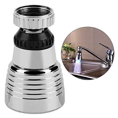 Aireador de grifo - Rociador de boquilla giratoria de 360 ° con luz LED de 3 colores, fregadero del baño de la cocina Cabezal de rociador del lavabo del fregadero