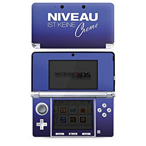 Cover kompatibel mit Nintendo 3 DS Case Skin Sticker aus Vinyl-Folie Aufkleber Niveau Creme Spruch