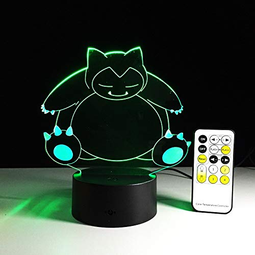 Colorful Three-Dimensional Cartoon 3D Table lamp LED Cool Multi-Color Decoration | Halloween Atmospheric Color lamp