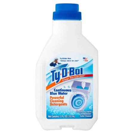PACK OF 12 - Ty-D-Bol Clean You Can See! Continuous Blue Water Powerful Cleaning Detergents, 12 fl oz