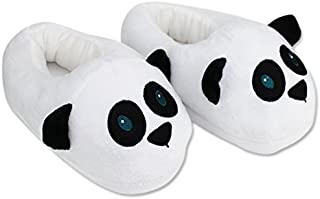 Cute Panda Slippers Plush Cotton Cute Funny Soft Warm Comfortable Indoor Bedroom Shoe For Big Kids & Women With Footpads ~ We Pay Yours Sales Tax