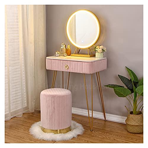Tocador Mesa de maquillaje de vanidad moderna NORDIC MODERNA MODERNA MODERO MINIMALISTAS Dormitorio Dormitorio Dormitorio Mesa de maquillaje Vanity Escritorio Mesa de espejo ( Color : A1 Set L50cm )
