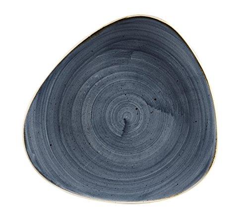 Churchill Stonecast -Triangle Plate Teller- Durchmesser: Ø26,5cm, Farbe wählbar (Blueberry)