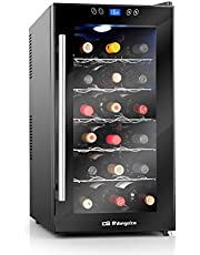 Orbegozo VT 1860 – Vinoteca 18 botellas, 52 litros de capacidad, temperatura regulable, panel táctl, display digital, luz LED, 70 W