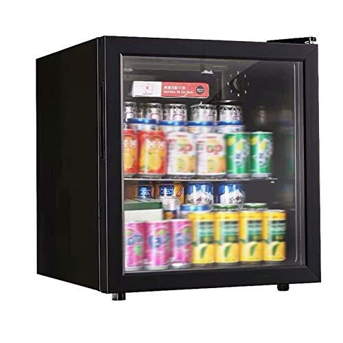 DALIBAI 50L Enfriador de Bebidas enlatadas y refrigerador, Mini refrigerador for el hogar, la Oficina o en el Bar con Puertas de Vidrio y estantes Regulables y Desmontables
