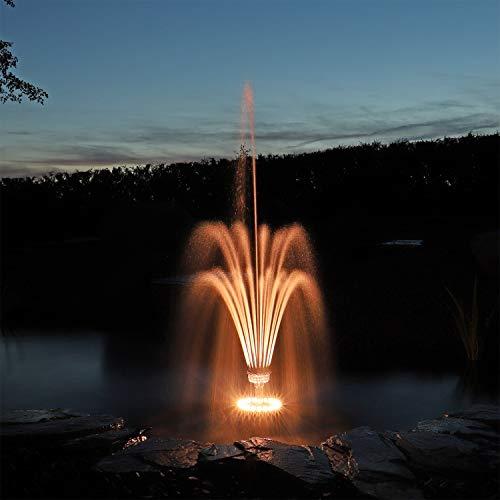 CLGarden Fontänenbeleuchtung LED Ring LEDR20 Beleuchtung für Fontäne Schaumsprudler Wasserspiel Springbrunnen Pumpe