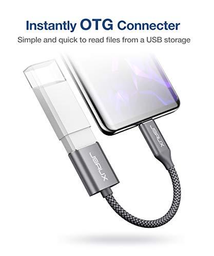 JSAUX USB C auf USB 3.1 Adapter [2 Pack] OTG Typ C Adapter Kabel Kompatibel mit Samsung Galaxy S20 S10 S9 S8 Plus Note 10 A5 2017,Huawei P30 P20 Lite Mate 30 20 Pro,MacBook Pro 2018/2017/Air 2018 Grau