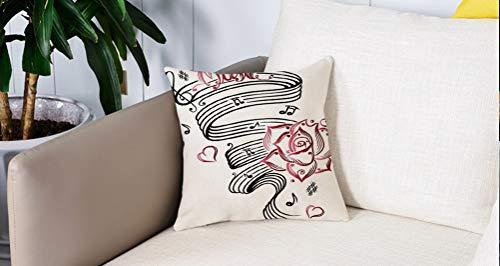 Luoquan Kissenbezüge Super Weich Home Dekoration,Dekor, Bleistiftzeichnung romantische Sanduhr Symbol der ewigen Liebe mit R,Kopfkissenbezug Pillowcase Kissen für Wohnzimmer Sofa Bed,45x45cm