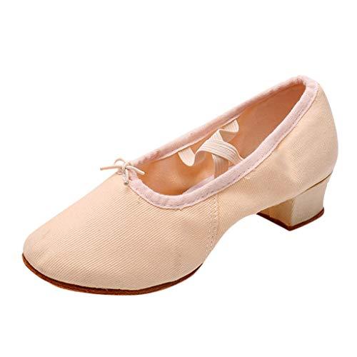 Fannyfuny Zapatos Mujeres Mocasines Casuales Zapatos de Fiesta de Salón de Baile de Tango Rumba Cerrados Zapatos Brillantes Bailando Rumba