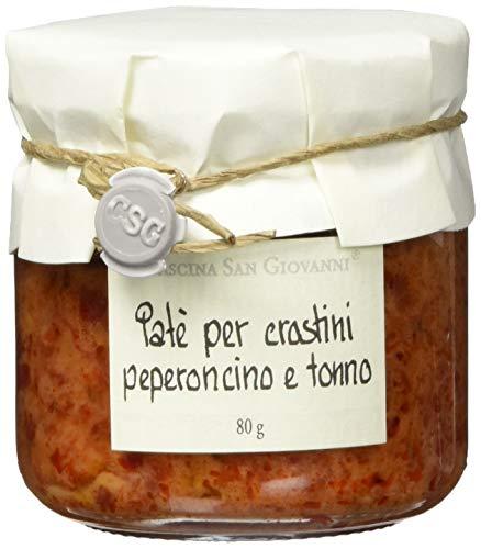 Cascina San Giovanni, Paté con peperoni e tonno, Peperoni-Thunfischcreme, 80 g
