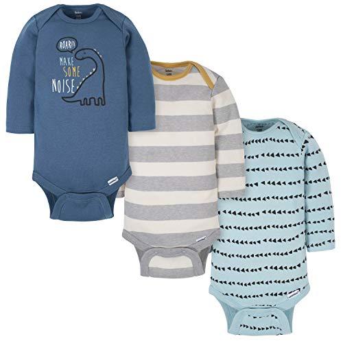 Gerber Baby Boys' 3-Pack Long-Sleeve Onesies...