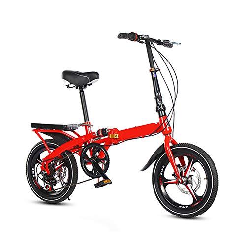Xingxings vouwfiets, 20 inch, met antislip en slijtvaste banden, schokdemping, berg, vouwfiets, frame van koolstofstaal, voor volwassenen en kinderen