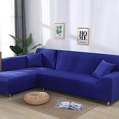 flqwe Elastische stof Stretch Couch Slipcover,L-vormige sofa cover, effen kleur hoekbank cover,Sofa Covers Polyester Stof Stretch Slipcovers
