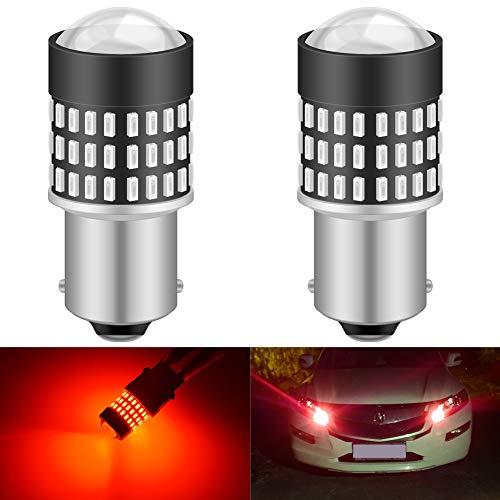 KATUR 1156 BA15S 7506 1073 1095 1141 Ampoule LED 900 Lumens 3014 78SMD Lentille LED Ampoules pour feu Clignotant arrière Feu de recul, Rouge Brillant (Pack de 2)