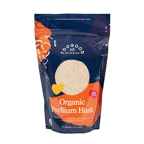 Certified Organic Whole Psyllium Husk, Non-GMO, India (1 Pound, 16 Ounces)