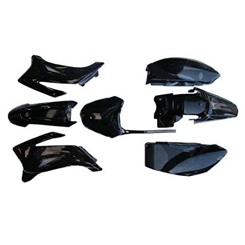 TDPRO Plastic Fender Fairing Kit for Yamaha TTR-R110E Pit Dirt Bike (Black)