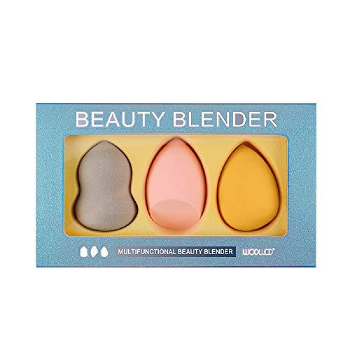 3 pièces Blender éponge de maquillage, fond de teint Blush Estompeur Correcteur Yeux Visage Poudre Crème Maquillage sponges. sans latex, hypoallergénique et sans odeur.