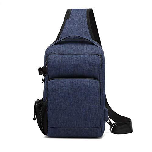 ZZYLHS Borsa Petto Borsa da Uomo A Tracolla con Ricarica USB Borsa da Massaggio Antifurto Petto Borsa A Tracolla for Viaggio Corto Borsa A Tracolla Mobile Impermeabile (Color : Blue)