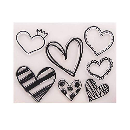 Love Heart Shape Rubber Clear Stamp/Seal Scrapbook/Photo Decorative Card Making Clear Stamps