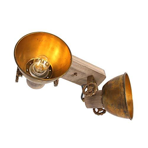 Steinhauer 7969BR - Lámpara de techo (2 focos, bronce, E27, estilo vintage)