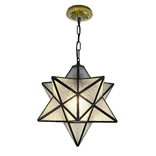 N / A 1-Light Herrnhuter Stern Pendelleuchte Moderne Kristallglas-Kronleuchter Penta hängende Kette Während Deckenleuchte für Porch Eintrag Foyer-diameter35cm (14inch),30 cm (12 Zoll)