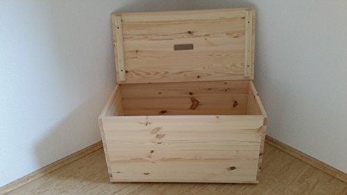 Holztruhe Holzkiste Truhe, 80x40x45cm - 5
