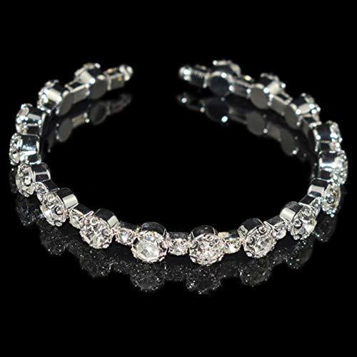 LIUL Collares de Cuello de Diamantes de imitación de Metal Chapado en Oro y Plata para Mujer Gargantilla de joyería de Moda de Cuello Redondo