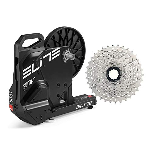 Elite Suito Pack Direct Drive Home Bike Trainer with 11-34t, 8sp Cassette Bundle (2 Items)
