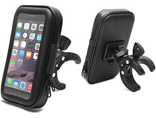 Hanchun Soporte Móvil Bicicleta - 360 Grados Rotación Soporte Móvil Bici Impermeable Manillar de la Motocicleta Soporte Universal Soporte Movil para Moto para Teléfonos 4,7 a 5,2' GPS y Otros