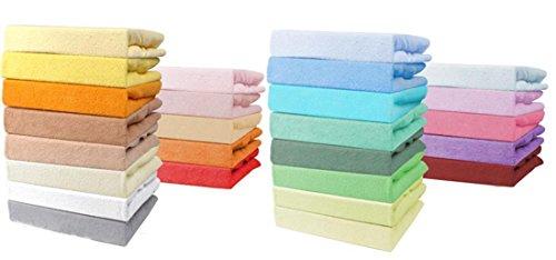 Best For Kids Spannbettlaken 55x90 cm aus Jersey oder Frottee für Beistellbett und Wiege in 4 Farben (Weiß - aus Jersey)