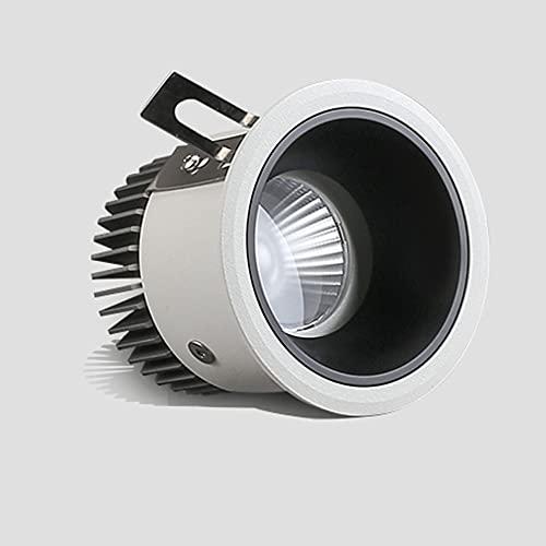 Sxxrdz Focos LED para empotrar en el techo de 10 W, impermeables, IP44, focos para techo, luz neutra, 4000 K, luces empotradas, 800 lm, iluminación de pared para lavar, baño, cocina, decoración de isl