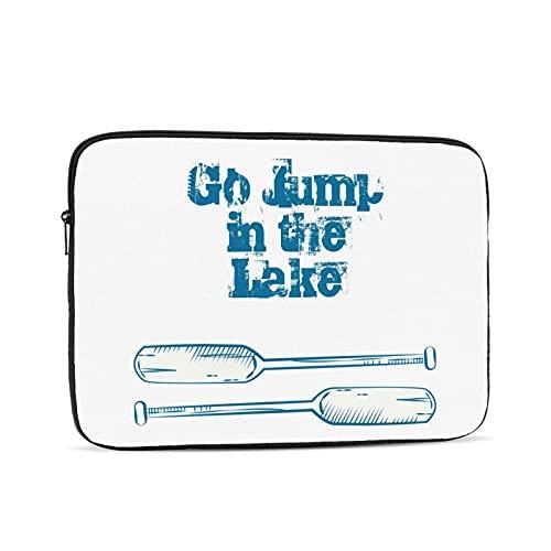 Oar go jump in the lake - Funda para ordenador portátil con asa oculta para mujer y hombre, resistente al agua