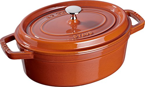 Staub 40511-300-0 Cocotte Ovale Fonte Cannelle 31 cm
