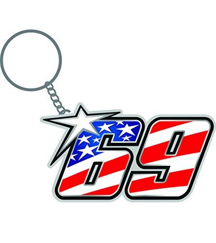 NICKY HAYDEN Schlüsselanhänger aus Metall American 69