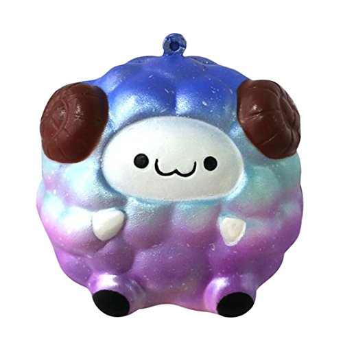 Sonnena Juguetes compresivos, Squishies Kawaii Juguetes Oveja Sonriente de Silicona Animales Squishy Squeeze Toy Slow Rising Decompression Toys Stress Relief Juguete Suave Squeeze Toys (:8 * 9cm, A)