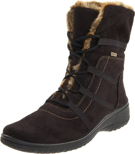 ara Women's Magaly Boot,Black Synthetic Suede,10 W US
