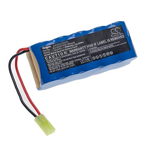 vhbw Batería recargable compatible con Rowenta RH846901, RS-Rh5205, RS-Rh5488 aspiradora, robot de limpieza (2000 mAh, 12 V, NiMH)