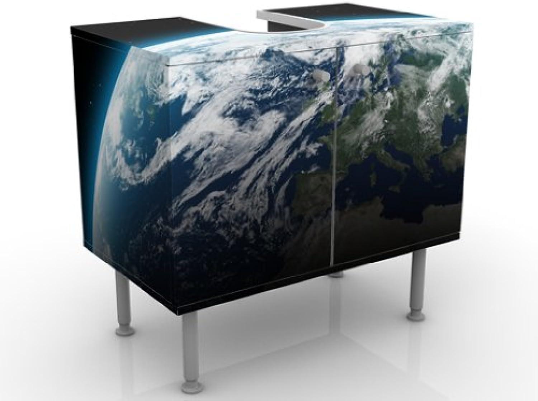 INDIGOS UG Design Illuminated Vanity Planet Earth 60x55x35cm