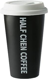 Coffee Mugs الإبداعية القدح السيراميك مع غطاء هاندي كأس المحمولة فنجان القهوة كوب زوجين للرجال والنساء سعة كبيرة كوب مياه ...