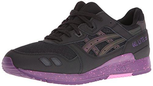 ASICS Men's Gel-Lyte III Fashion Sneaker, Black, 4.5 M US