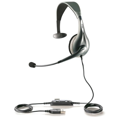 Jabra UC VOICE 150 MS Mono Lync Optimized Corded Headset for Softphone