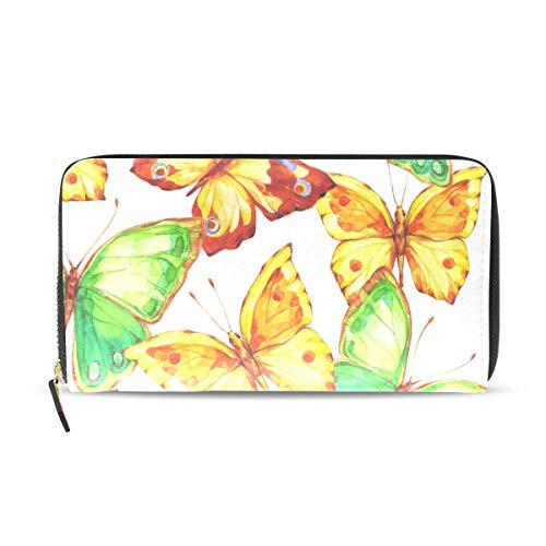 FANTAZIO - Cartera de Mano con diseño de Mariposas pintadas a Mano