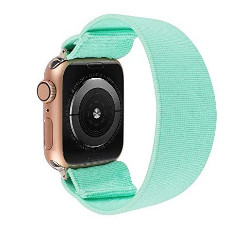ToYOUTHS - Pulsera elástica de repuesto para Apple Watch, 42 mm, 44 mm, para hombres y mujeres, deportes, para el tiempo libre, para iWatch Serie 5 4 3 2 1 (azul claro, tamaño grande)