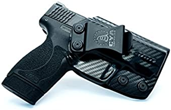 CYA Supply Co. Fits S&W M&P 45ACP Shield M2.0 Barrel Inside Waistband Holster Concealed Carry IWB Veteran Owned Company (Carbon Fiber, 052- S&W M&P 45ACP Shield M2.0)