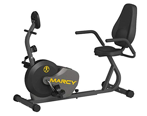 Product Image 5: Marcy Magnetic Recumbent Bike with Adjustable Resistance and Transport Wheels NS-716R