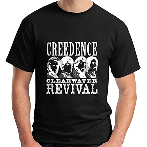 Creedence Clearwater Revival Rock Band Black Men's T-Shirt