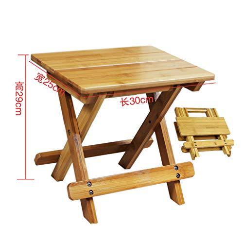 WEIFAN-Furniture Bambus Klappstuhl Reise Kleine Bank Tragbare Outdoor Holzbank Angeln Stuhl Kind Erwachsene Haushalt / 30 × 25 × 29 cm